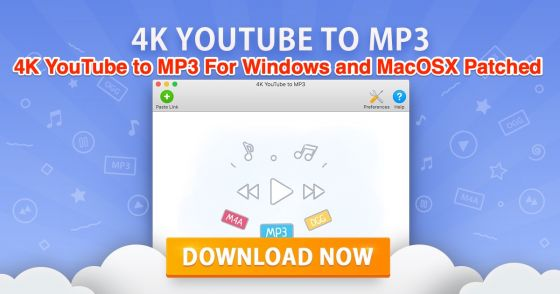 K youtube to mp for windows and macosx