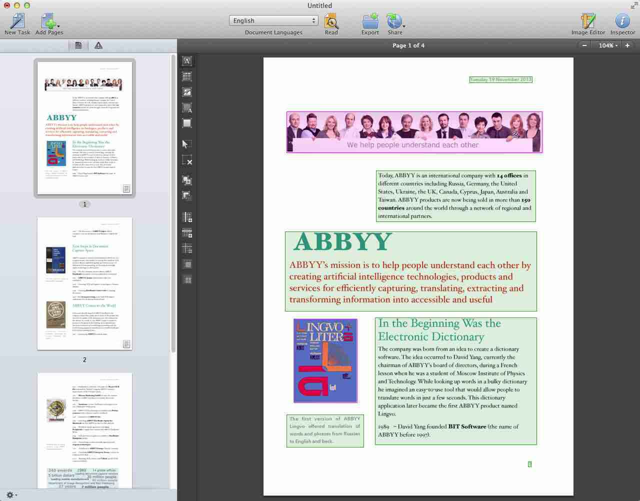 ABBYY FineReader OCR Pro 12 for mac Latest Version