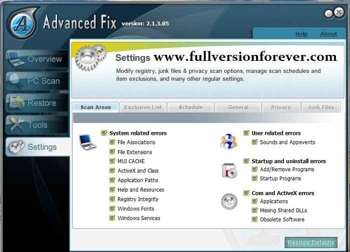Advanced Fix full version with crack
