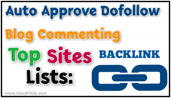 Auto Approve Blog Commenting List 2019 For Making Backlink