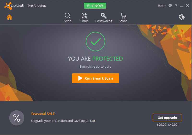 Avast Pro Antivirus 2019 your Are protected