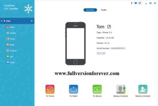forepaw-ios-transfer-connected-iphone-s-5-with-pc