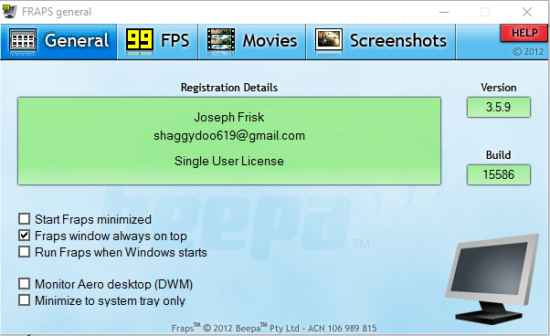 fraps full version download For Windows