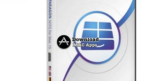 This is a box cover of Paragon-NTFS for mac