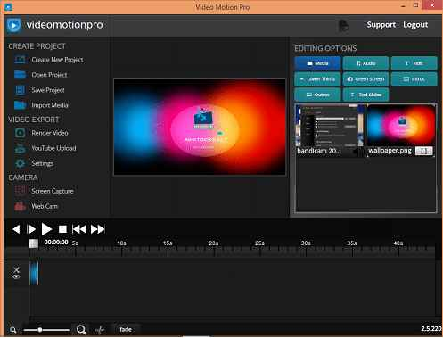 Video Motion Pro Video Editor and Making Software