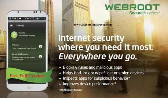 Webroot SecureAnywhere Mobile Premier for android mobile apk