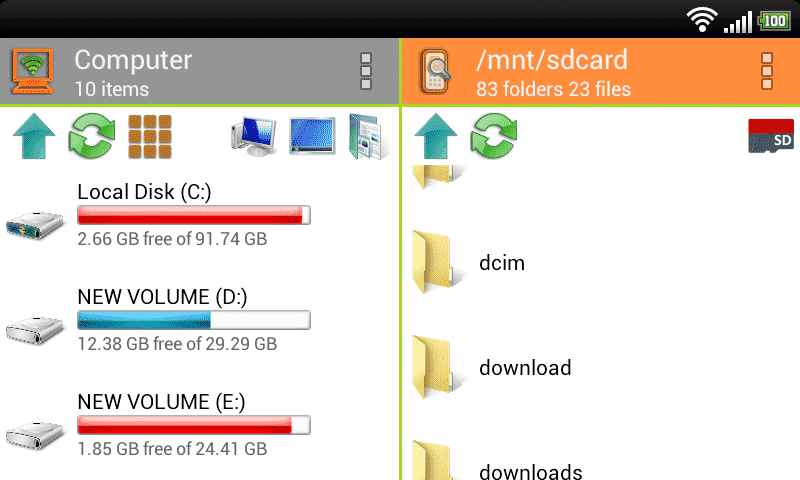 WiFi PC File Explorer Latest Version apk