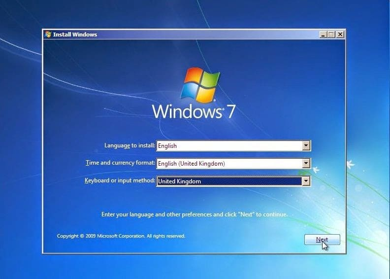 Windows 7 AIO install Windows screen