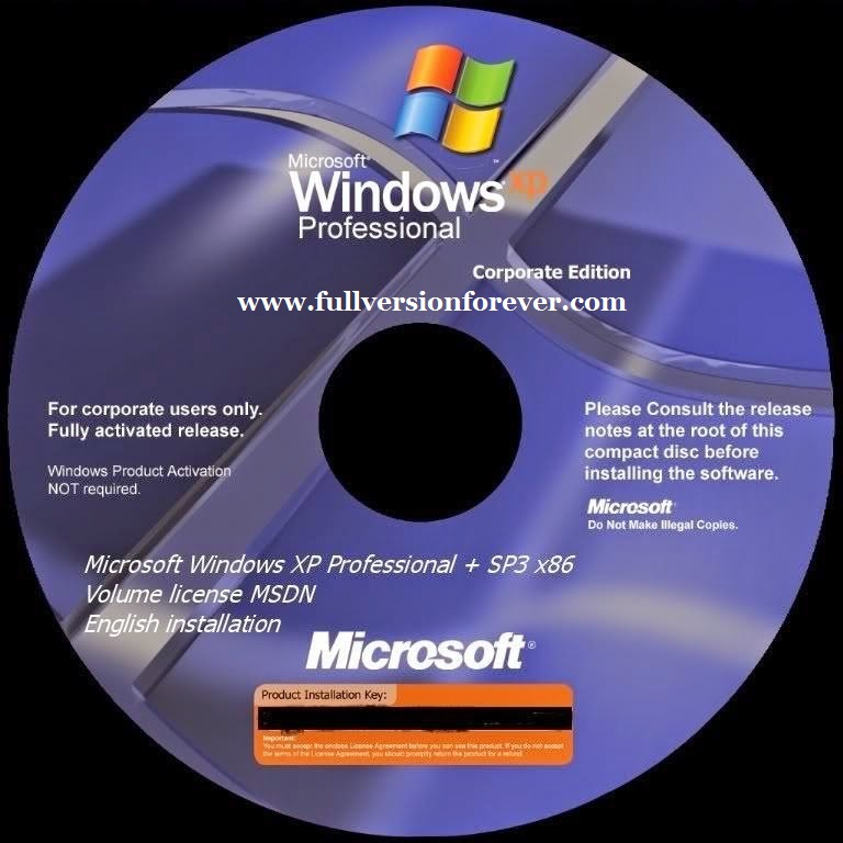 Windows XP Professional SP3 Highly Compressed ISO Free Download